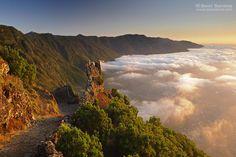 Atardecer desde el Mirador de Jinama hacia el Golfo,Isla de El Hierro, Canarias