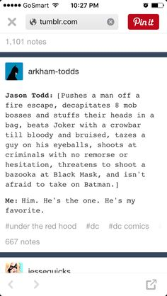 Anybody else adore Jason Todd because feel like a lot people hate him