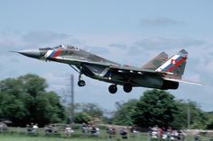 https://flic.kr/p/QtEfJ8   MiG-29A Slovakia   Yeovilton, 5 June 1994.  Yeovilton is a great base for watching planes! 7501 is in storage at Sliac airbase.