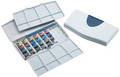 Amazon.com: Winsor & Newton Cotman Water Color Pocket PLUS Set of 24 Half Pans: Art Paints: Artwork