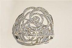 ROSE FLOWER WITH CRYSTAL BRACELET Crystal Bracelets, Heart Ring, Engagement Rings, Crystals, Rose, Flowers, Jewelry, Enagement Rings, Wedding Rings