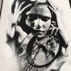 To the Wishlist. inbox for a good price. #tattooart #blackandgrey #drawings #clocktattoo #inked #tattoos #realism #tattooflash #BulletBG