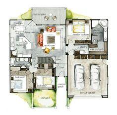 Fachadas y Planos de casas