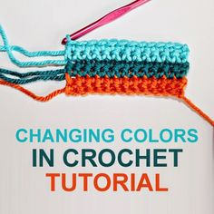 Changing Colors In Crochet Tutorial - (rescuedpaw)