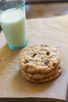 Perfect Chocolate Chip Cookies (For Two)-not healthy, really, but just enough, no temptation to go overboard