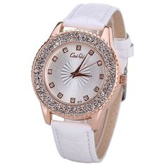 Water Resistant Quartz Watch with 12 Diamonds Hour Marks Leather Watchband for Women #>=#>=#>=#>=#> Click on the pin to check out discount price, color, size, shipping, etc. Save and like it!