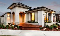 Last Trending Get all images ideal home design ideas Viral f ff cb a e Spanish Exterior, Mediterranean Homes Exterior, Spanish House Design, Small House Design, Single Storey House Plans, Tuscan House, Dream House Exterior, Display Homes, Story House