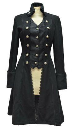 Manteau gothique victorien - Femme - Pentagramme