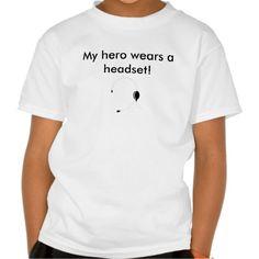 My hero wears a headset t shirt T Shirt, Hoodie Sweatshirt