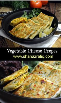 Vegetable Cheese Crepes ~ They look really stylish, a kind of gourmet food but yet are so simple and easy to make. The ingredients are very common and you will have these in your pantry at any time of the month. Veggie Recipes, Indian Food Recipes, Gourmet Recipes, Vegetarian Recipes, Cooking Recipes, Gourmet Foods, Indian Snacks, Veggie Food, Cooking Tips