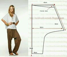 Pantalon beduino como hacerlo