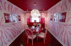 Zebra print wallpaper? Forget the romantic dinner and candies, how about redecorating your home to celebrate Valentine's Day?