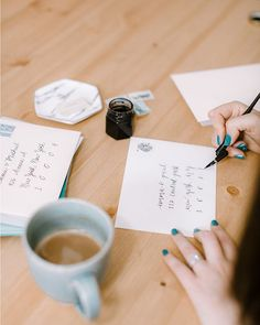 Coffee & calligraphy - our favorite way to start the day! What's your favorite way to kickstart the work week? Wedding Envelopes, Wedding Invitations, Work Week, Start The Day, Invite Your Friends, Something Blue, Save The Date, Custom Design, Etsy Seller