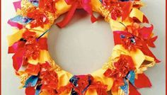 The perfect wreath for summer – it's bright, colorful and super easy