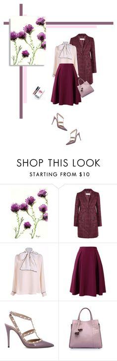 """Sem título #302"" by soleuza ❤ liked on Polyvore featuring Kylie Cosmetics, Tory Burch, Chicwish, Valentino, classic, Pink, violet and coat"