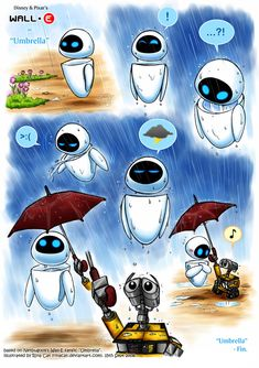 Wall-E: Umbrella Artwork by rinacat