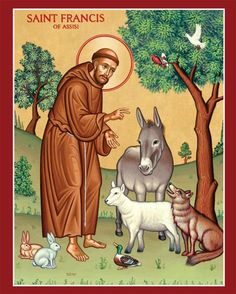 SAINT FRANCIS OF ASSISI: O God, by whose gift Saint Francis was conformed to Christ in poverty and humility, grant that, by walking in Francis' footsteps, we may follow your Son, and, through joyful charity, come to be united with you. Through our Lord Jesus Christ, your Son, who lives and reigns with you in the unity of the Holy Spirit, one God, for ever and ever. Amen.