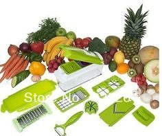 Nicer Dicer Plus Vegetables Fruits Dicer Food Slicer Cutter Containers Chopper Peelers Set of 12 kitchen tools $22.50