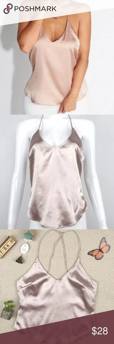 ONE LEFT!! 🌸SUPER HOT LIGHT PINK SILK TANKTOP So cute ! Add a blazer for a professional look, add dress pants for any occasion. BRAND NEW - retail. Never worn Tops Tank Tops