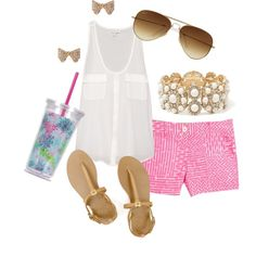 Everyday Summer outfit... Love patterned shorts