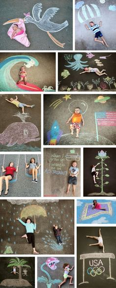 Easy Sidewalk Chalk Art Ideas For Kids