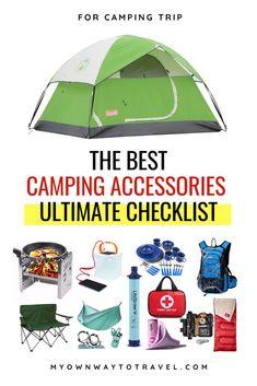 Camping Essentials List, Rv Camping Checklist, Camping List, Camping Glamping, Camping Hacks, Packing Checklist, Camping Tips Tricks, Travel Essentials, Winter Camping Gear
