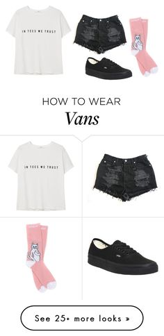 """"""":p"""" by legitlucid on Polyvore featuring RIPNDIP, Vans and MANGO"""