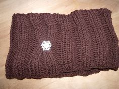 Chocolate brown cowl scarf by MelindasMemorables on Etsy, $15.00