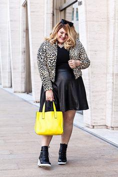 Leather & Leopard #plussize #fashion