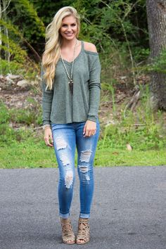 Love Buzz Cold Shoulder Top: Available in 2 Colors