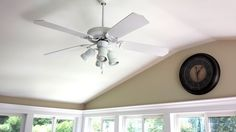 White Home Ceiling Fan As Part Of Interior