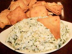 the very best and easiest hot artichoke and spinach dip. it is todd wilbur's recipe from his top secret recipes book.