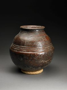 Collection: Dick Jemison African Ceramics  Artist: Songye people, Democratic Republic of the Congo African  Medium: fired clay and slip  Object Type: vessel