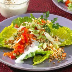 Lauwarmer Linsen-Hirse-Salat