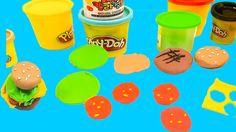 Play Doh Hamburger|Diy How to Make Hamburger|Play Doh Food For Kids|Lear...