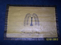 Primitive-canvas-floor-cloth, 2' X 3' free shipping sold by the two old hens on Etsy