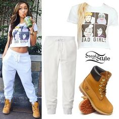 tinashe blessed best sweater | Liane V: 'Bad Girls' Tee, Timberland Boots