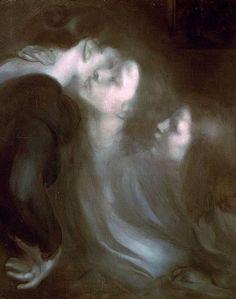 Eugène Carrière, Le Réveil, Le Baiser à la mère |Her Mother's Kiss, 1899