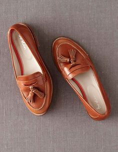 Boden Women's Brand New Tassel Loafer Leather Shoes Brown Tan[40]