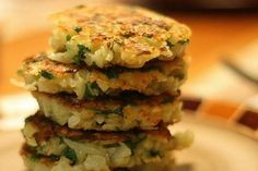Potato Pancakes with Chick-Pea Flour, Cilantro and Cumin