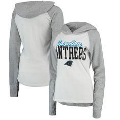 ed8b368a Carolina Panthers Juniors Old School Long Sleeve Hooded T-Shirt - White/Gray