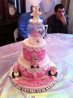 Winter Wonderland 1st Birthday Cake