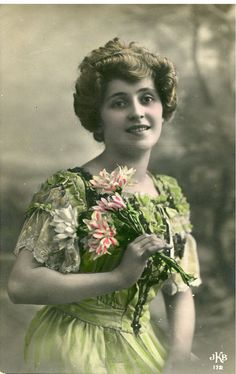 Original French vintage hand tinted real photo postcard - Pinned via etsy