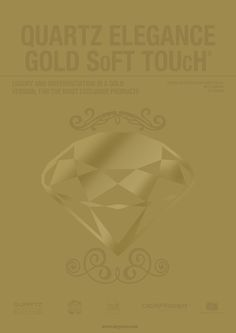 QUARTZ Elegance Gold SoFT TOUcH: Sophisticated look and an attractive SoFT TOUcH effect. http://www.derprosa.com/puntos/quartz-elegance-gold-soft-touch-en/…