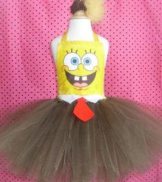 Spongebob Costume Tutu Dress by 4EverTuTu on Etsy, $37.99