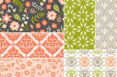 Fox Trail Seamless Backgrounds by Cocoa Mint on Creative Market