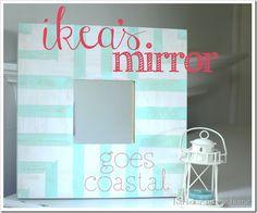 ikea's mirror goes coastal with text