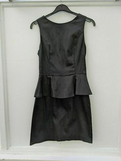 New Rage Dress Black Peplum Sleeveless Size 10 (353) #Rage #Peplum #PartyCocktail