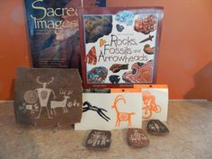 Petroglyph books, plaques,stickers and magnets
