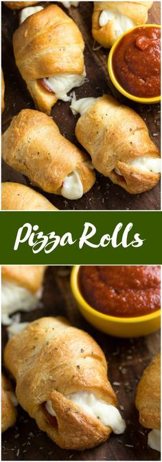 Pizza Rolls - Soft and buttery crescent rolls filled with gooey melted cheese and pepperoni slices. Add some pizza dipping sauce on the side and you have a tasty appetizer kids love!